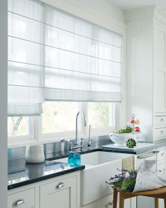 Design Studio Roman Shades for Kitchen Windows