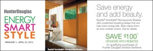 Energy Smart Style Hunter Douglas Rebates
